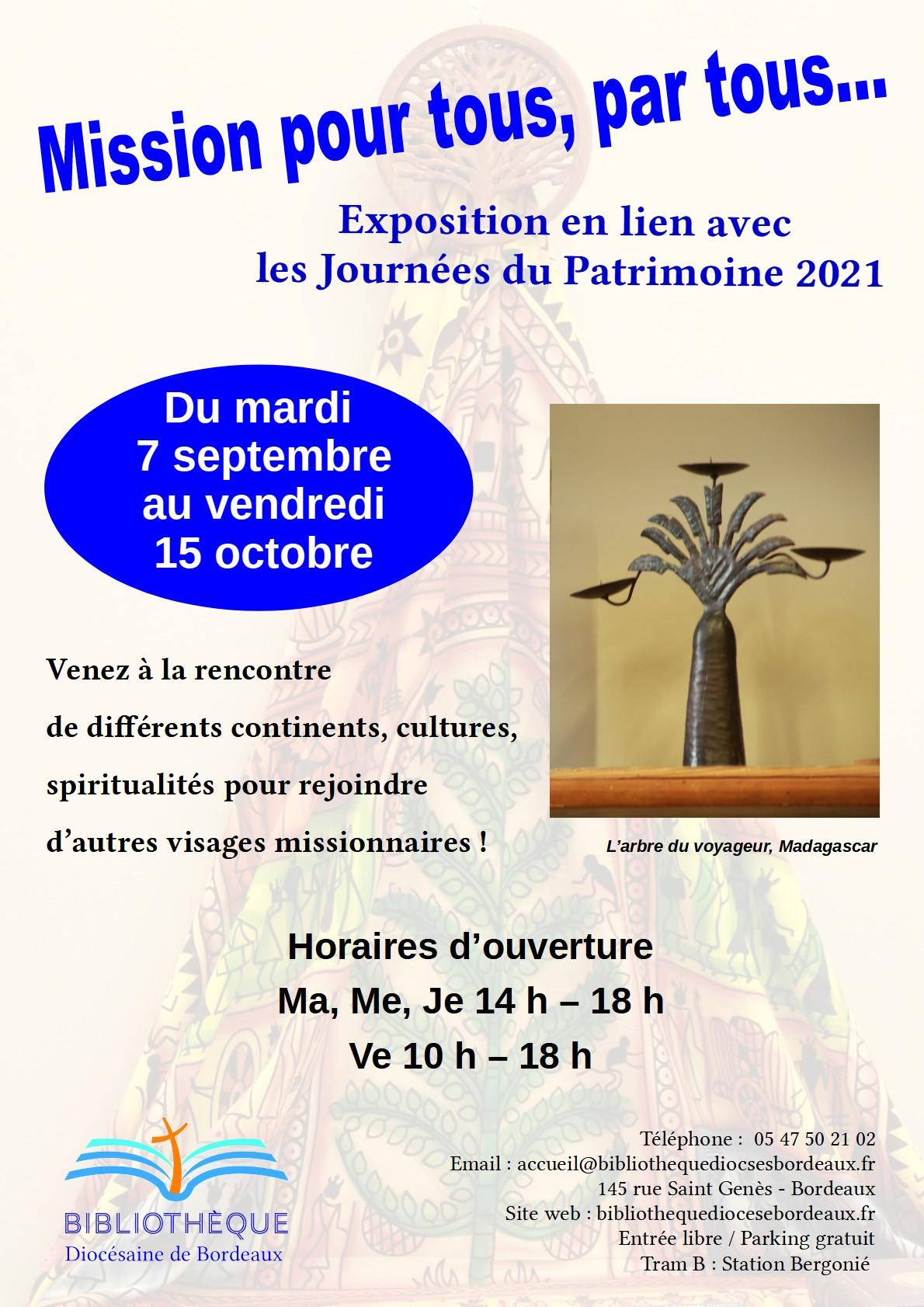 """Exposition """"Mission pour tous, par tous"""""""