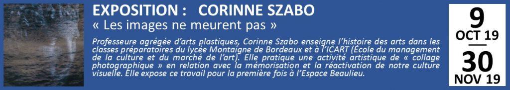 EXPOSITION : CORINNE SZABO «Les images ne meurent pas»