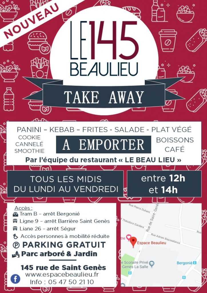 TAKE AWAY DU 145, VENTE A EMPORTER FLYER