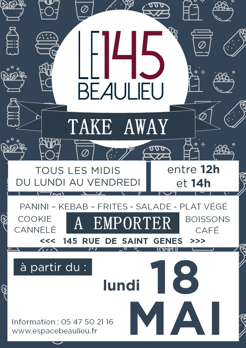 145 TAKE AWAY - LANCEMENT - BLEU & BLEU