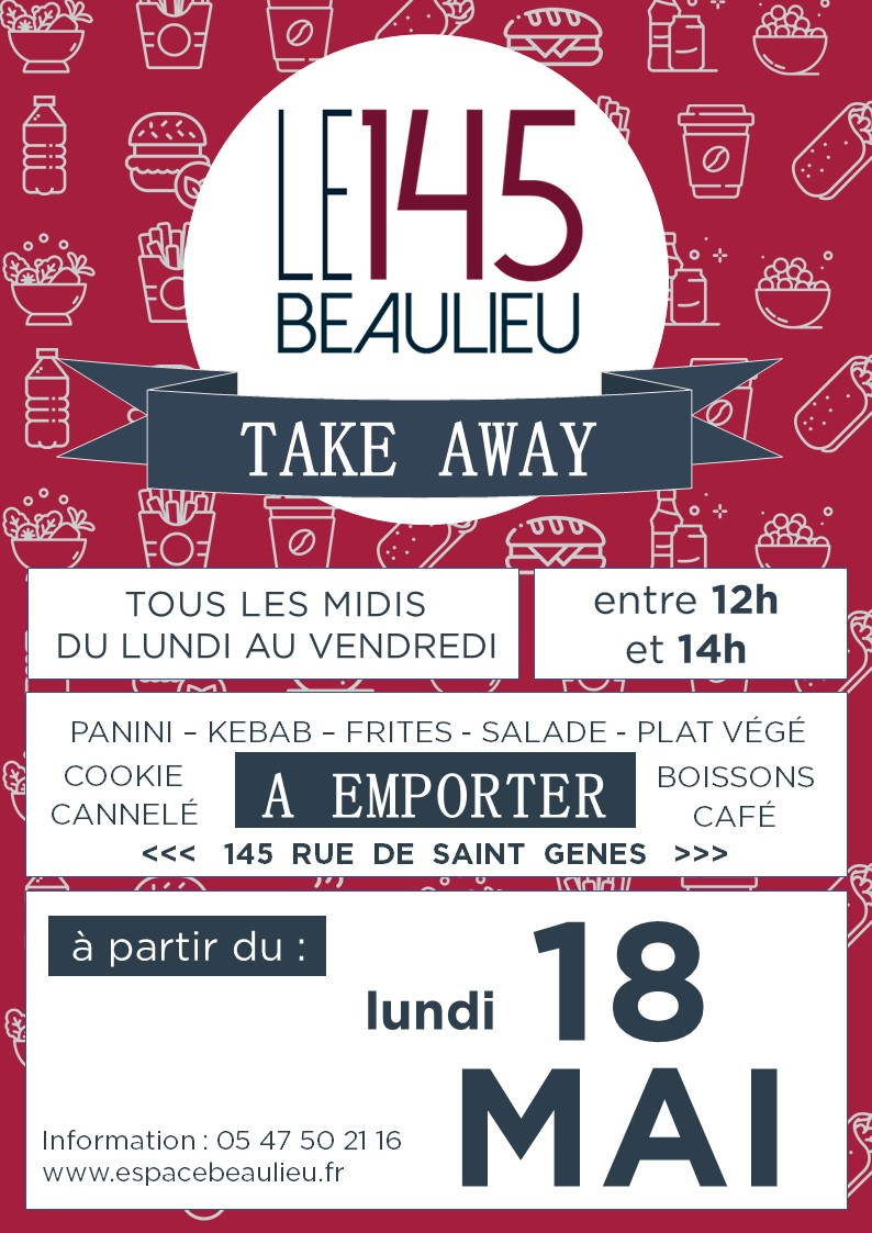 LANCEMENT DU 145 TAKE AWAY LE LUNDI 18 MAI